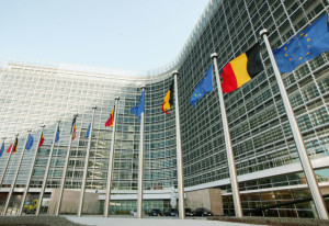 BRUSSELS, BELGIUM - OCTOBER 21:  The Berlaymont building, the headquarters for the European Commission, is unveiled October 21, 2004 in Brussels, Belgium. Berlaymont, originally built in 1967 but abandoned in 1991 after asbestos was discovered throughout the structure, was finally unveiled after a long delayed 13 year redevelopment. The building is expected to re-welcome the EU commission on November 1. (Photo by Mark Renders/Getty Images)